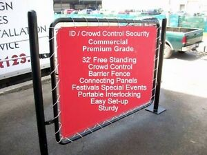 32 Crowd Control Barrier Fence Privacy Portable Special Event Canvas Panels