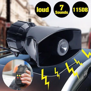 12v Loud Air Horn Siren For Car Boat Van Truck 7 Sounds Pa System Mic 115db