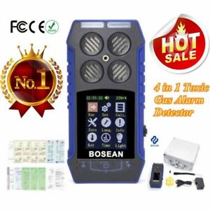 4 In1 Gas Detector Monitor 2 4 Lcd Co O2 H2s Oxygen Gas Analyzer Alarm Meter Us