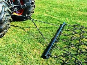 Pasture Chain Harrow 4 X 5 6 Landscape Drag Rake Atv Tractor