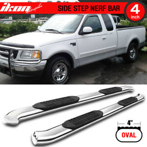 Fits 99 03 Ford F150 Super Cab 4 Inch Stainless Steel Side Steps Running Boards