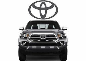 Magnetic Grey Front Grill Vinyl Decal Overlay For 2016 2017 Toyota Tacoma New