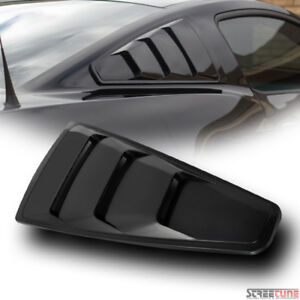 Blk Gt 3 Vent Style Quarter Side Window Louvers Cover Kit V2 05 14 Mustang Coupe