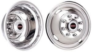 99 07 Gmc 3500 Dually 16 Inch Stainless Steel Hubcaps Simulators With Gmc Logos