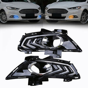 3 Color In 1 Drl Led Daytime Running Light Fog Lamp For Ford Fusion Mondeo 13 15