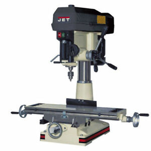 Jet Jmd 18 Mill drill With X axis Table Powerfeed 350119 New