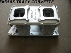 1965 85 Edelbrock Bbc 7190 Street Tunnel Ram Intake Manifold And 7191 Lid