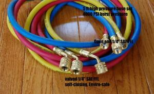 60 hvac R410a Hose Set Manifold Gauge 800 4000psi Epa Applied Low loss Fittings