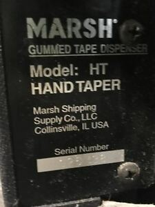 Marsh Ht Hand Taper Dispensing Machine Model Ht With 2 Boxes Of Reinforced Tape