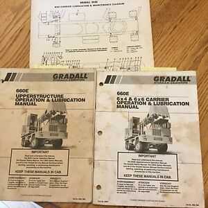 Gradall 660e Excavator Operation Lube Manual Telescoping Boom Carrier