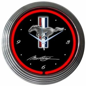 Neonetics Ford Mustang Neon Clock 8mustang 15 New Man Cave Look