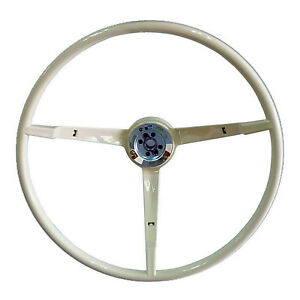 Steering Wheel White Mustang 64 66