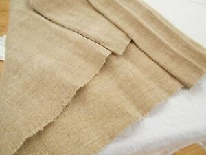 19x82 Vtg Antique Hemp Linen Primitive Upholstery Bolt Grain Bag Fabric 2 Yd