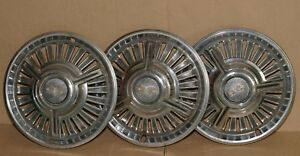 1965 Chevrolet Chevy Impala Chevelle Hot Rod 14 Inch Black Hubcap Wheel Covers