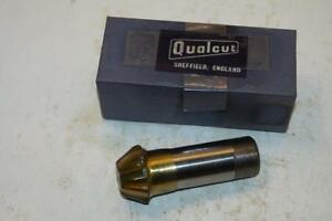 New Qualcut Uk Made 1 3 8 Hss End Mill 60 Inverted Dovetail Cutter 25mm Shank