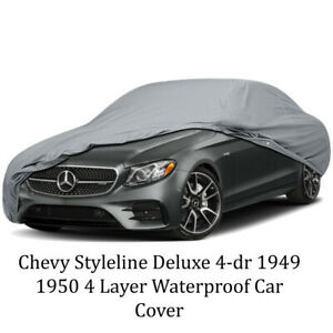 4 Layer Waterproof Car Cover Chevy Styleline Deluxe 4 Dr 1949 1950