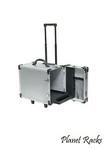 Planet Racks Aluminum Rollingtravel Salesman Jewelry Case With 12 Trays