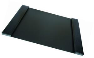 Durapad Executive Desk Pad With Faux Leather Side Panels 19 X 30 Inch Black 0