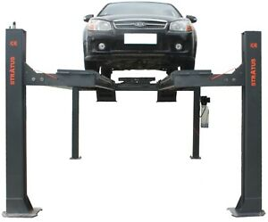 Stratus 4 Post 14000 Lbs Open Front Pneumatic Release Alignment Car Lift