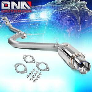 4 burnt Tip Stainless Steel Exhaust Catback System For 05 10 Scion Tc 2 4l I4
