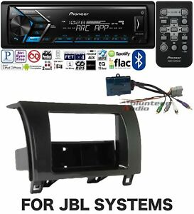 Pioneer Single Din Media Player Radio Bluetooth Dash Install Kit Harness No Cd