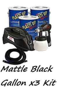 3 Gallons Matte Black Performix Plasti Dip Dyc Dipsprayer Gun Bundle Kit
