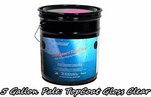 Dyc Topcoat High Gloss Clear 5 Gallon Pale Bucket Ready To Spray Plasti Dip