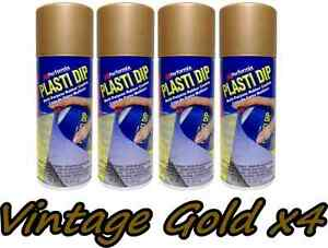 Plasti Dip Metallic Vintage Gold 4 Pack Rubber Coating Spray 11oz Aerosol Cans