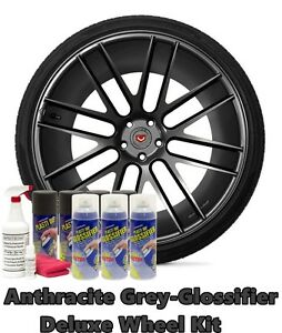 Plasti Dip True Metallic Anthracite Grey Glossifier Deluxe Wheel Kit Spray Can