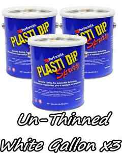 3 Gallons White Unthinned Performix Plasti Dip Concentrate Strength Free S h