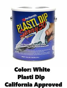 Performix Plasti Dip Spray 50 White Gallon Low Voc California Ca Free S h
