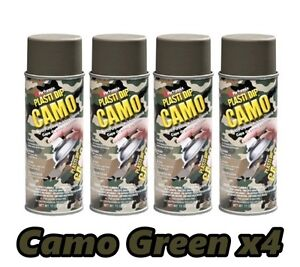 Performix Plasti Dip Camo Green 4 Pack Rubber Coating Spray 11oz Aerosol Cans
