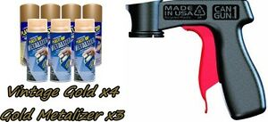 Performix Plasti Dip Premium Wheel Kit 4 Vintage Gold 3 Gold Metalizer Can Vgrip