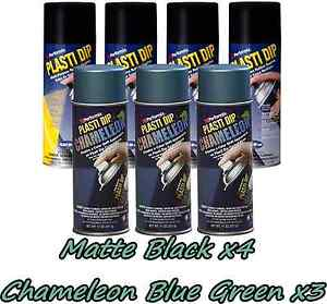 Performix Plasti Dip Wheel Kit 4 Matte Black 3 Chameleon Blue green Cans Free Sh