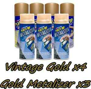 Performix Plasti Dip Premium Wheel Kit 4 Vintage Gold 3 Gold Metalizer Cans 11oz
