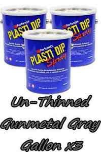 3 Gallons Gunmetal Gray Unthinned Plasti Dip Concentrate Full Strength