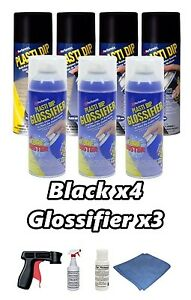 Performix Plasti Dip Gloss Deluxe Wheel Kit Matte Black Glossifier Cans Free S h