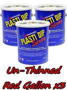 3 Gallons Red Unthinned Performix Plasti Dip Concentrate Full Strength Free S h