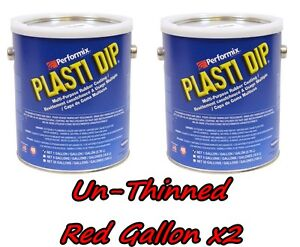 2 Gallons Red Unthinned Performix Plasti Dip Concentrate Full Strength Free S h