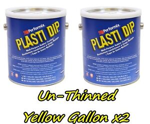 2 Gallons Yellow Unthinned Performix Plasti Dip Concentrate Strength Free S h