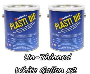 2 Gallons White Unthinned Performix Plasti Dip Concentrate Strength Free S h