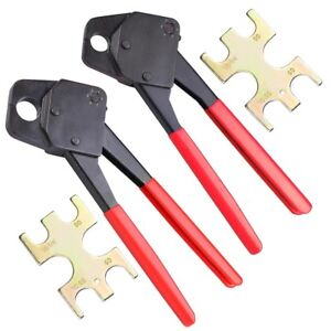 1 2 3 4 Pex Crimpers Set Plumbing Crimping Tool Copper Ring Gonogo Gauge Red