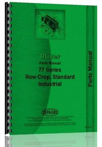 Oliver 770 880 Row Crop Standard Industrial Tractor Parts Manual Catalog