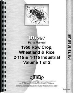 Oliver 1950 White 2 115 4 115 Tractor Parts Manual