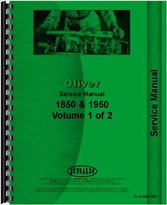 Oliver 1850 1950 Tractor Service Manual