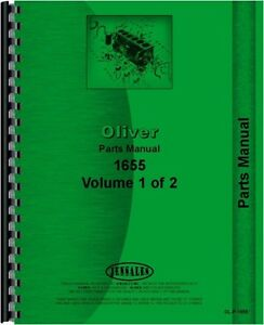 Oliver 1655 Minneapolis Moline G750 Tractor Parts Manual Catalog