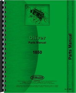 Oliver 1850 Tractor Parts Manual Catalog Gas Lp Diesel