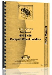 Case 644 646 Compact Wheel Tractor Loader Tractor Parts Manual Catalog