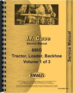 Case 680g Tlb Tractor Loader Backhoe Service Shop Manual