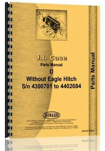 Case D Tractor Parts Manual Catalog Sn 4300701 4402684 No Eagle Hitch